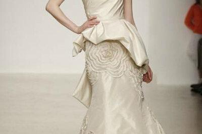 Bruidsjurk met extra stof om de heupen: de Peplum bruidsjurk