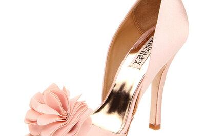 Zapatos para novia color rosa