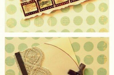 Zaproszenia ślubne w stylu retro - kurs DIY