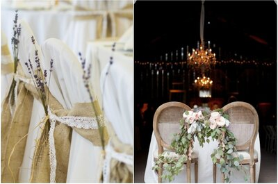Décoration des chaises du mariage