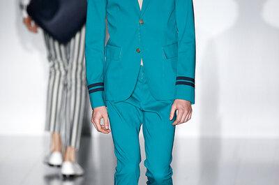 Para los novios con estilo, las tendencias top desde Milan Fashion Week