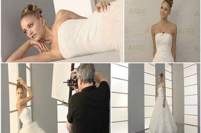 Aire presenta su colección 2012 para novias muy femeninas