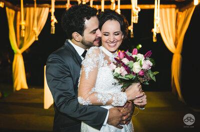 Ayane & Lucas: casamento vintage num deslumbrante fim de tarde no campo