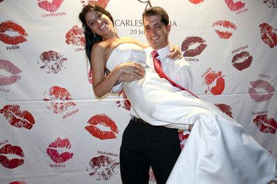 Consigue las fotos más originales con un photocall para bodas