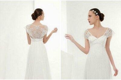 El vestido de la semana: una novia que sale de su crisálida