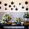 Mesa de doces super rústica para um casamento com personalidade turca.