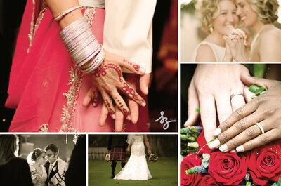 Collage de inspiración para una boda multicultural
