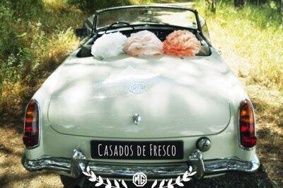 Decoração original para o seu carro de casamento