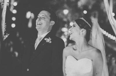 Larissa & Renato: lindo casamento ao ar livre com decoração romântica