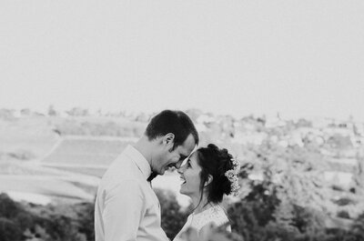 Boris + Justine : Mariage bohème chic dans un domaine viticole du Beaujolais