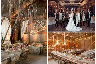Sielsko i anielsko, czyli stylowe pomysły na dekoracje wesela na wsi