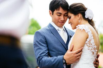 Regiane & Guilherme: casamento ao ar livre super intimista em meio à natureza!