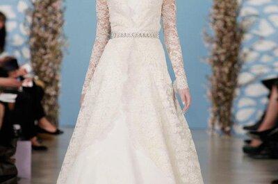 Vestidos de novia 2014 con mangas largas