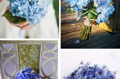 Ramos de novia en color azul para bodas 2013