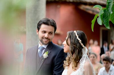 Maria Eugênia e César: casamento na fazenda em clima rústico e alegre