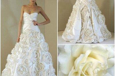 Inspiriert durch Blumen - Brautkleider 2013
