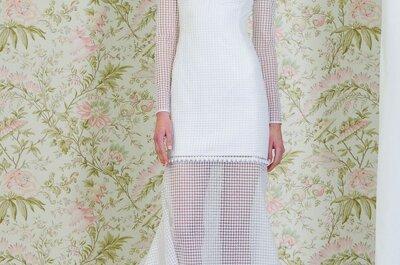 Déjate envolver por la innovación con los vestidos de novia primavera 2015 de Ángel Sánchez