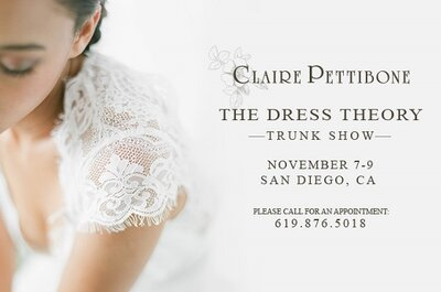 Ethereal brides in the Claire Pettibone collection for fall 2015
