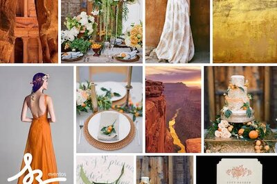 Color y armonía: Decora tu boda con tonos naranjas, beige y terracota para crear un entorno increíble