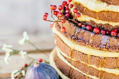 Sanfte Farbtupfer für die Herbst- und Winterhochzeit mit köstlichen Torten, Cup Cakes und Cake Pops!
