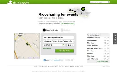 Duckseat Carpool for your Green Wedding Guests