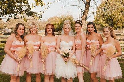 Mariées en robe courte