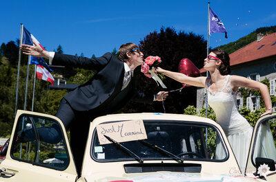 Camille & Philippe : tombés amoureux en cours de maths, ils se marient sur le lac d'Annecy dans un décor de rêve