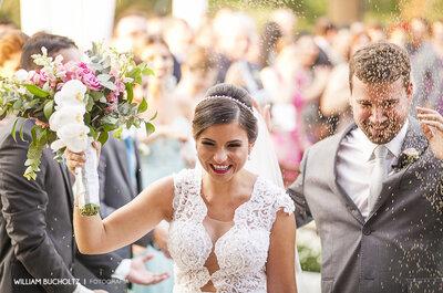 Carol e Daniel: casamento rústico ao ar livre com a ajuda de São Pedro em Santa Catarina!