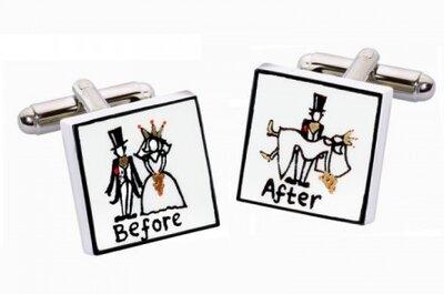 5 individuelle Manschettenknöpfe für den Bräutigam