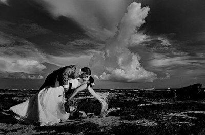 Originales fotografías con tu vestido de novia en la naturaleza
