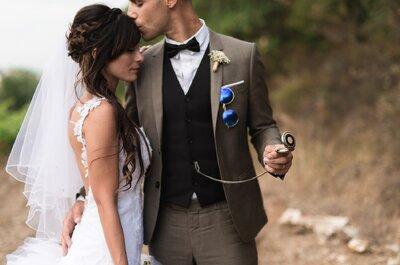 Laura + Gabriel : un beau mariage vintage dans le Var