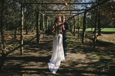 ¡Boda civil al aire libre! Darinka y Marcelo ante el fresco bosque