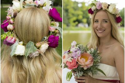 Венки из цветов для невест 2015: выбери свой!