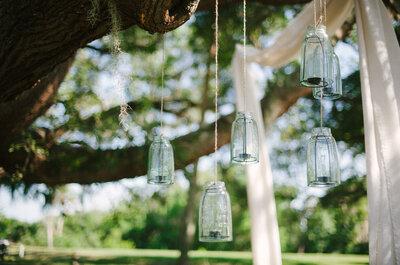 ¿Cómo adornar tarros de cristal? Las mejores ideas para tu boda