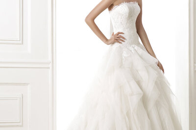 Lo mejor de un cuento de hadas: Vestidos de novia corte princesa Pronovias 2015