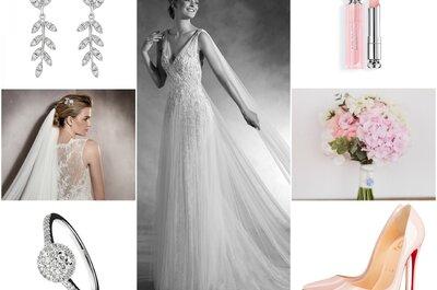 Luce perfecta con este espectacular estilismo de novia romántica. ¡Revisa el look de la semana!