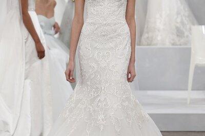 Un efecto wow en los vestidos de novia primavera 2015 de Monique Lhuillier