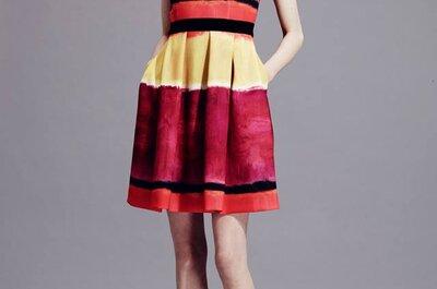Un mágico efecto visual en los vestidos de fiesta 2015 de Alberta Ferretti