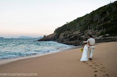 Vai casar na praia? Contrate um fotógrafo especialista neste estilo de casamento!