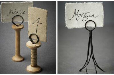 Opciones sencillas para identificar las mesas de la boda