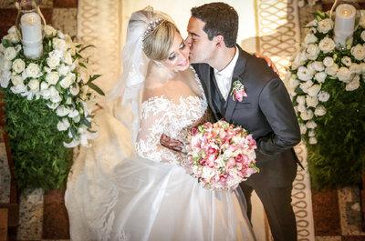Casamento clássico de Patrícia e Mario: cerimônia impecável com noiva deslumbrante!