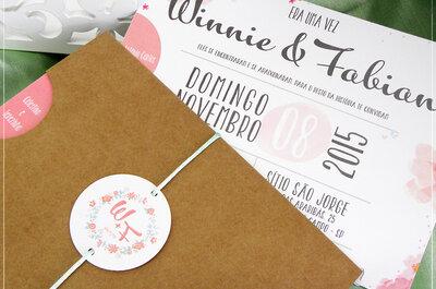 Convites de casamento rústicos 2017: um mais lindo que o outro!