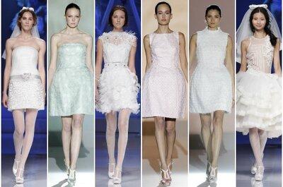 Vestidos de novia cortos 2013: Seleccionamos 14 modelos para tí