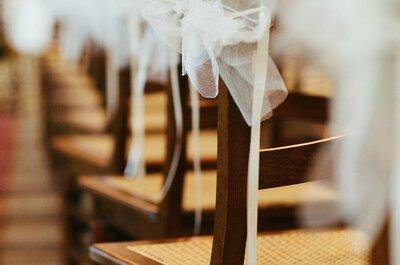 Stijlvolle stoeldecoratie voor je bruiloft