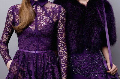Elie Saab Pre Fall 2015: Vestidos de fiesta con toques folclóricos, arriesgados colores y piel... ¡mucha piel!