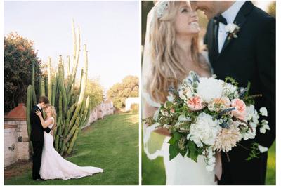 Real Wedding: Gracia y estilo sin igual en un jardín elegante con los mejores acentos de color