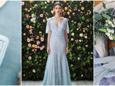 Look de la semana: novia de color azul