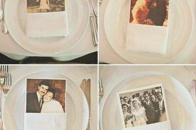Decorazioni per matrimonio con foto