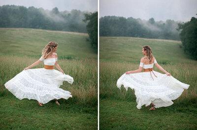 El flechazo de la semana: El vestido de novia campestre
