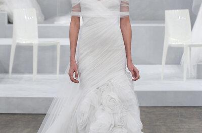 Monique Lhuillier 2015: Vestidos de novia que cobran vida a cada paso… ¡Elegancia indescriptible!